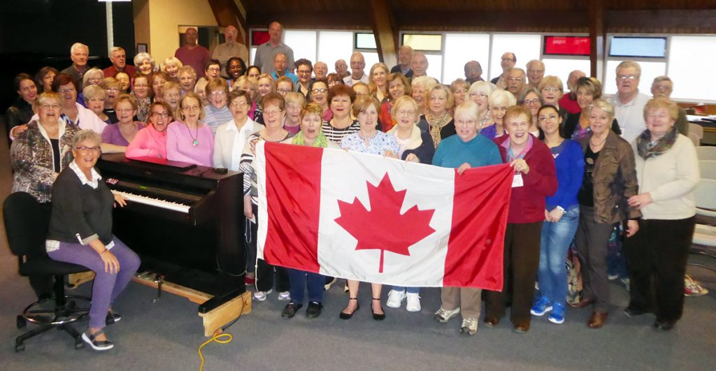 Georgetown Choral Society rehearsal for Canada 150 performance
