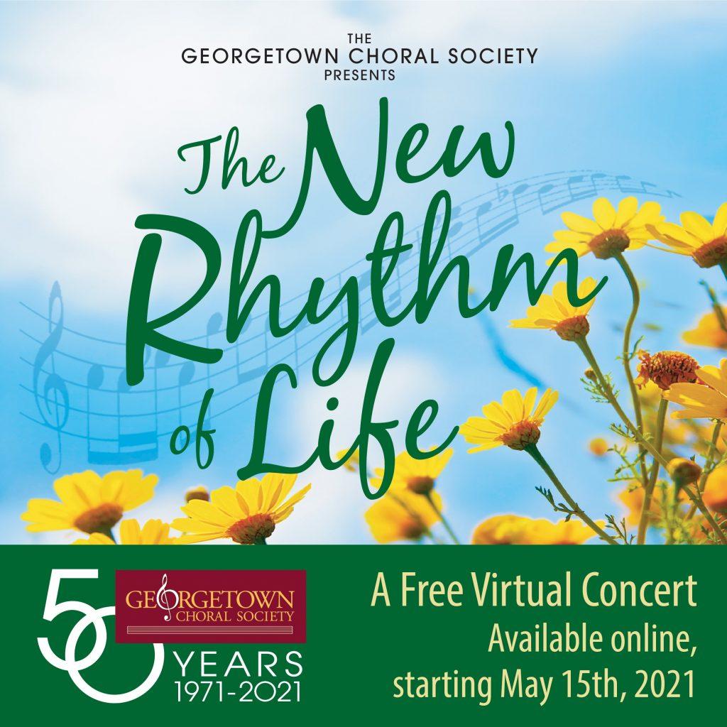 Spring 2021 virtual concert poster New Rhythm